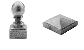 Cast Iron Post Caps from Prescott Supply